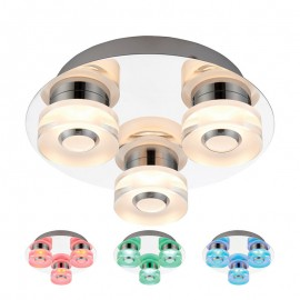 Rita 3 Light Colour Changing RGB LED Ceiling Light