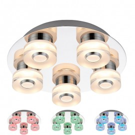 Endon Rita 5 Light Colour Changing RGB LED Ceiling Light