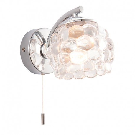 Lawcross Pull Cord IP44 Bathroom Wall Light