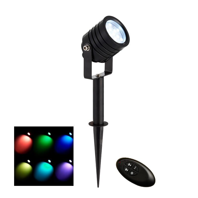 luminatra black rgb ip65 2 5w led spotlight. Black Bedroom Furniture Sets. Home Design Ideas