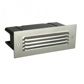 Seina Stainless Steel Louvre IP44 4.5W Daylight Brick Light