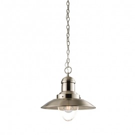 Endon Mendip Satin Nickel Ceiling Pendant Light
