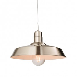 Endon Moore Nickel Finish Pendant Light