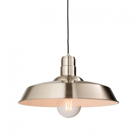 Moore Nickel Finish Pendant Light