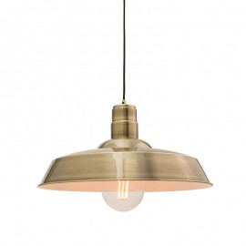 Endon Moore Antique Brass Finish Pendant Light