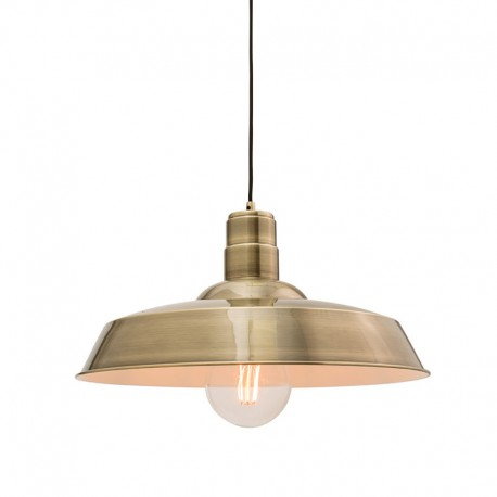 Moore Antique Brass Finish Pendant Light
