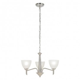 Endon Neeson 3 Light Pendant Or Semi Flush Ceiling Light