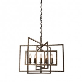 Endon Tibbet Large 5 Light Pendant Light