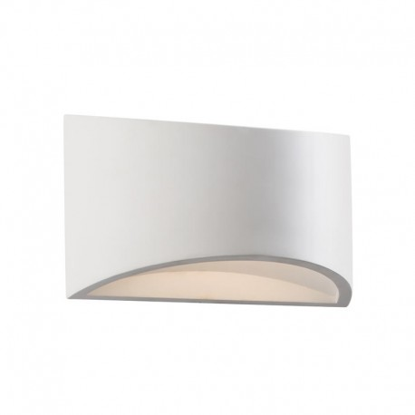 Toko 200mm Curved 3W LED Paintable Plaster Wall Light