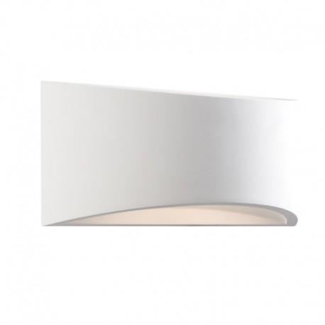 Toko 300mm Curved 3W LED Paintable Plaster Wall Light