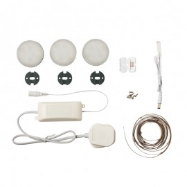 Saxby Marci Round LED Kitchen Under Cabinet Lighting Kit