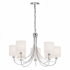 Phantom Polished Chrome 7 Light Ceiling Pendant