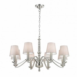 Endon Astaire Satin Nickel 8 Light Pendant