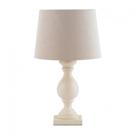 Marsham Ivory Wooden Table Lamp