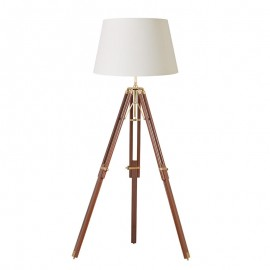 Tripod Floor Light Sheesham Wood Base Only