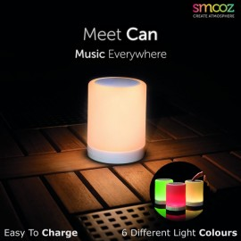 Smooz Can Rechargeable LED Light With Bluetooth Speaker
