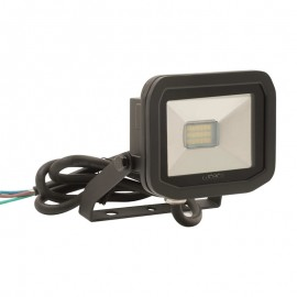 LUCECO BG Black 8W Slimline Guardian Floodlight