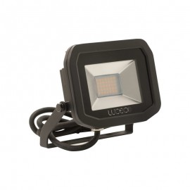 LUCECO BG Black 15W Slimline Guardian Floodlight