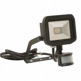 LUCECO BG Black 8W Slimline Guardian Floodlight With PIR