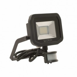 LUCECO BG Black 15W Slimline Guardian Floodlight With PIR