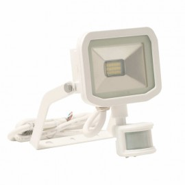 LUCECO BG White 15W Slimline Guardian Floodlight With PIR