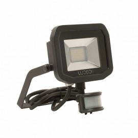 LUCECO BG Black 22W Slimline Guardian Floodlight With PIR