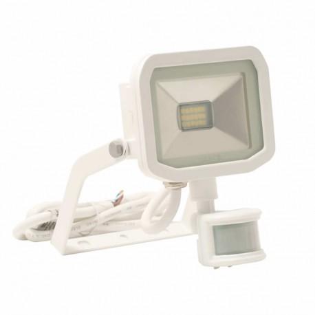 White 22W Slimline Guardian Floodlight With PIR