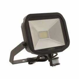 LUCECO BG Black 38W Slimline Guardian Floodlight With PIR
