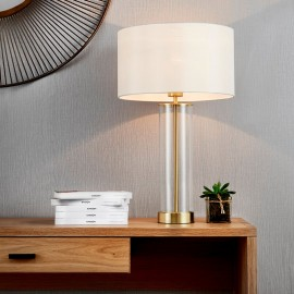 Lessina Touch Activated Gold Table Lamp