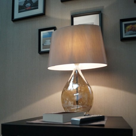 Kew Gold Tinted Glass Table Lamp