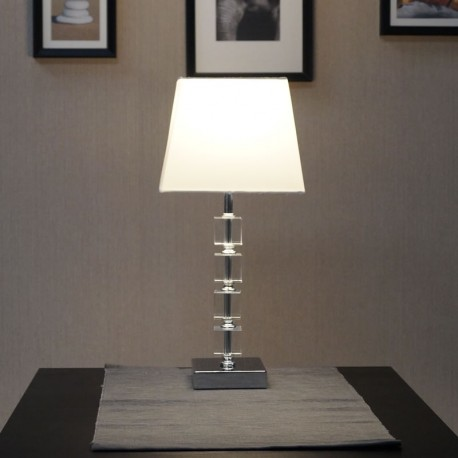 Moreto Tapered Chrome Table Lamp