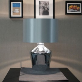 Endon Waldorf  High Shine Chromed Glass Table Lamp