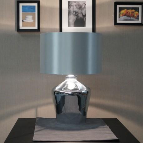 Waldorf  High Shine Chromed Glass Table Lamp