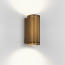 Jura Twin Antique Brass Outdoor Wall Light