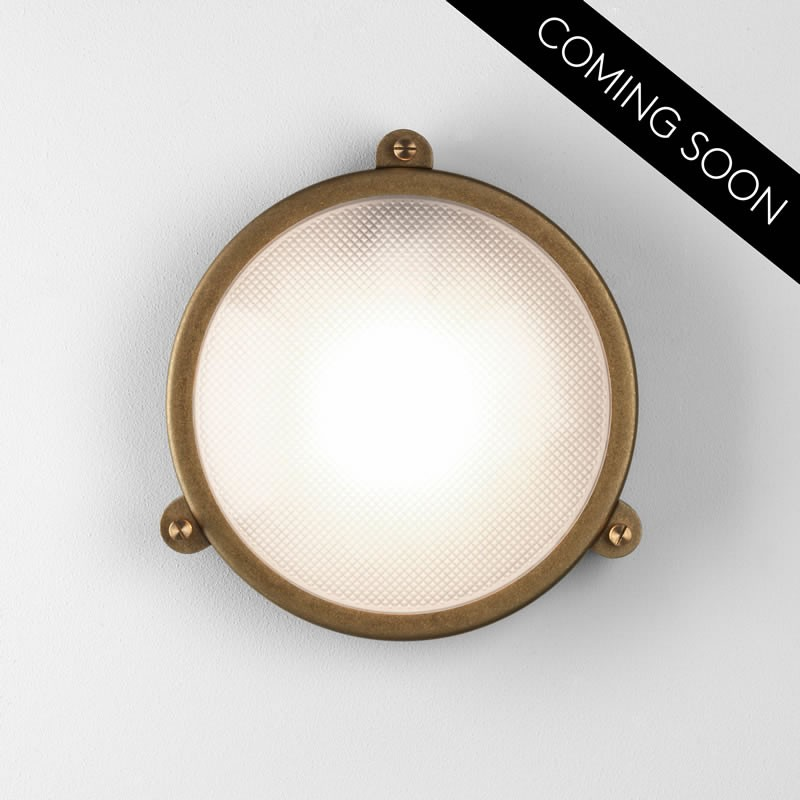 Malibu Brightscapes Landscape Lighting Antique Copper: Astro Malibu Round Antique Brass Outdoor Wall Light 7969