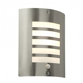 Bianco Exterior Wall Light With PIR Sensor