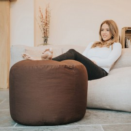 Cotton Stool Beanbag - Chocolate Brown