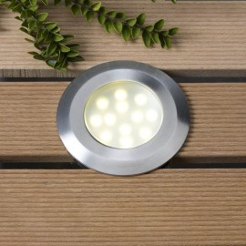 Aureus Warm White 12V LED Plug & Play Deck Light