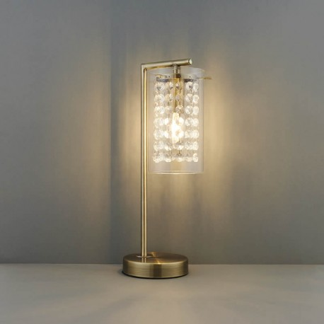 Alda Brass Effect Table Lamp With Bead Droplets
