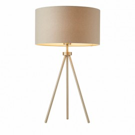 Endon Tri Table Lamp Matt Nickel