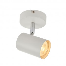 Saxby Arezzo White Single LED Ceiling Spotlight