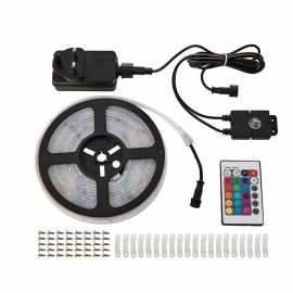 Saxby Aqualine 5m 24W IP44 RGB LED Strip Lighting Kit