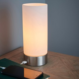 Endon Dara Table Lamp With USB Port