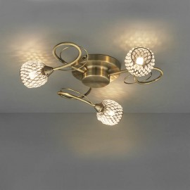 Aherne 3 Light Semi Flush Ceiling Light