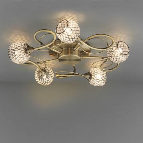 Aherne 5 Light Semi Flush Ceiling Light