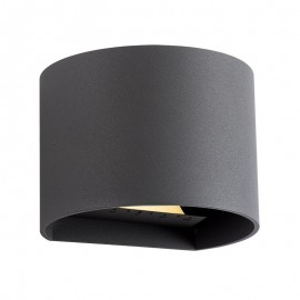 Techmar Goura Anthracite 12V Up Down Plug & Play Wall Light