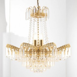 Endon Adagio 9 Light Gold Plated Chandelier