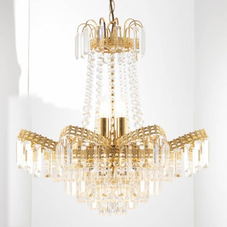 Adagio 9 Light Gold Plated Chandelier