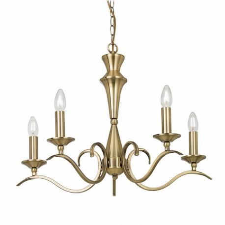 Kora Antique Brass 5 Light Chandelier