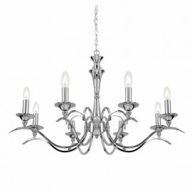 Endon Kora Chrome 8 Light Chandelier